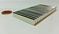 "10 NEODYMIUM magnets. 1-1/2"" × 1/4"" × 1/8"" Strong Rare Earth magnets. N52 Grade"