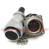WS28 20pin Aviation Connector, Electric Power Cable Connector 5A LED Solder Plug