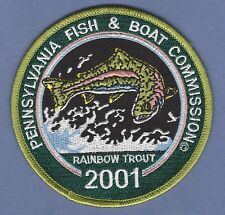 PENNSYLVANIA FISH & BOAT COMMISSION 2001 RAINBOW TROUT HUNTING PATCH