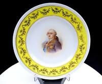 "VICTORIA AUSTRIA CARLSBAD SIGNED LOUIS XVI YELLOW & GILT 8 3/8"" PLATE"