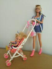 Vintage Barbie Doll Stroller Fun Excellent