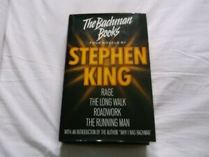 STEPHEN KING  THE BACHMAN BOOKS  1ST EDITION  1986  NEW ENGLISH LIBRARY  EX  CON