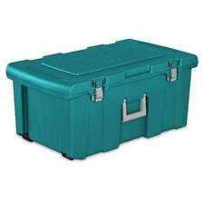 Heavy Duty Durable Footlocker Box Bin Container Storage Organization Tote Teal