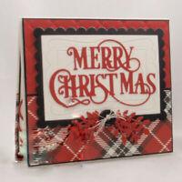 Merry Christmas Reindeer Cutting Die Scrapbooking Album Card Paper Crafts