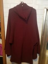 Cami Cowl  Knit Sweater XL, wide sleeves Burgundy