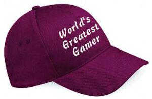 Embroidered World's Greatest............ Burgundy Baseball Cap, Ideal Gift