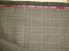 "2.5 yd Holland Sherry WOOL Suiting Super 140s Legend fabric 8.5 oz Plaid 90"" BTP"