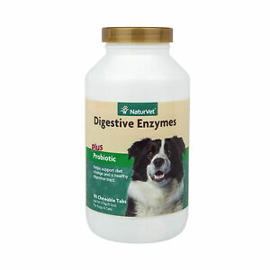 NaturVet Digestive Enzymes Plus Probiotics Soft Chew Dog and Cat 90 count
