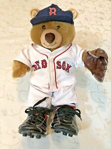 "Build a Bear 14""  in Retired Red Sox MLB Baseball Uniform Hat Jersey #1"