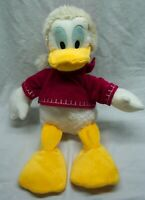 "Walt Disney Store HOLIDAY SANTA HAT DONALD DUCK 15"" Plush STUFFED ANIMAL Toy"