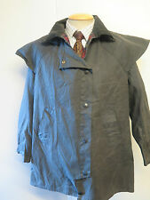 "Barbour A1305 Backhouse Stockman Waxed 3/4 jacket - 36"" Euro 46 UK 12  in blue"