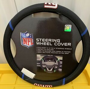 New York Giants Embroidered Steering Wheel Cover