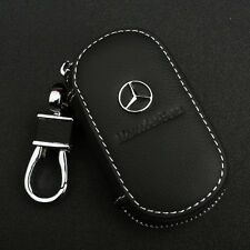 Cowhide leather Car Key Holder Keychain Ring Case Bag Fit For Mercedes Benz Auto