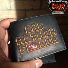 THE BMF® BRAND BAD MOTHER F*CKER BLACK Wallet Embroidery Leather Free Shipping