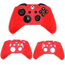 COQUE de PROTECTION SILICONE pour  MANETTE XBOX ONE ROUGE + 2 pour joysticks