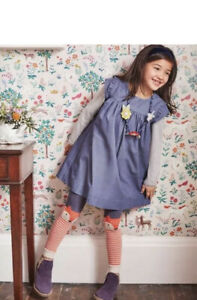 NEW Mini Boden Corduroy Dress Dark Wisteria Purple Size  7-8