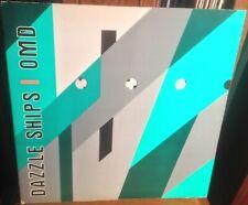 OMD dazzle ships 1983 UK VIRGIN STEREO VINYL LP w/DIE-CUT SLEEVE & INNER