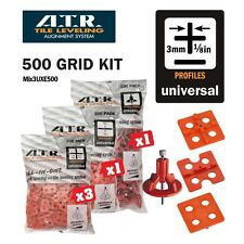 ATR TILE LEVELING SYSTEM Qty 500 PIECES 3mm Universal KIt- Tile Level System
