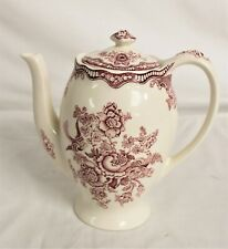 Crown Ducal Pink Transferware Coffee Pot - Bristol Design - Thames Hospice