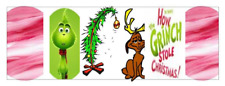 water decal nail art transfer Grinch Full Nail mixture 3/4 inch decals 20
