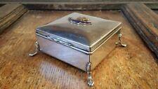 1900S ANTIQUE SILVER PLATED MASONIC BOX DUKE OF CORNWALL LODGE LONDON FREEMASONS