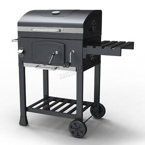 HEATSURE Charcoal BBQ Grill Barbecue Smoker Grate Garden Portable Outdoor Grey