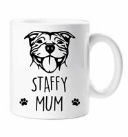 Staffy Mum Mug Mothers Day Birthday Christmas Pet Present Staffordshire Bull