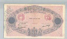 FRANCE 500 FRANCS BLEU ET ROSE 27 AOUT 1926 H.841 N° 21007636 PICK 66 K