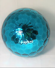 "New Open Box Enchanted Garden 10"" Blue Glass Outdoor Patio Garden Gazing Ball #1"