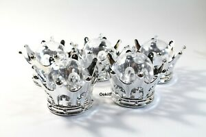 12 Silver Crown Baby Shower Favors Prizes Prince Princess Game Container