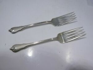 2 VINTAGE 6.5 INCH WALLACE GRAND COLONIAL SALAD FORKS