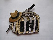 #3589 Golden,Silver,Black Luggage Embroidery Iron On Applique Patch