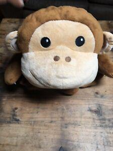 Melissa & Doug Plush Cuddle Brown Monkey Large Pillow Soft Toy EUC