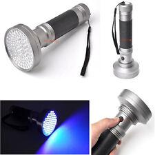 UV Ultra Violet 100 LED Flashlight Blacklight Torch Light Lamp Detection Hunting