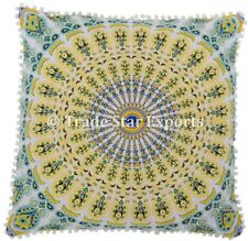 "Indian Euro Sham Mandala Pillow Case 26x26"" Boho Home Decor Square Cushion Cover"