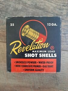 Vintage Revelation Maximum Load Shot Shells 25 - 12 GA Empty Ammo Box