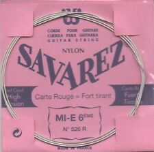 SAVAREZ  Corde unité Mi grave Filé métal argenté - Carte ROUGE Fort Tension 526R