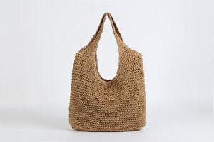 Women Fashion Casual Shoulder Woven Bags Female Large Capacity Straw Handbags