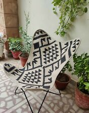Butterfly chair cover / Butterfly Rug/ Butterfly Durrie/ Geometric Hand Knitted