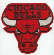 """NBA CHICAGO BULLS Logo Emblem Embrodiered Suede Patch 7"""" x 8"""""""