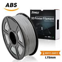 SUNLU ABS Filament for 3D Printer 1.75mm 1KG/2.2LB Spool Grey ABS No Bubbles