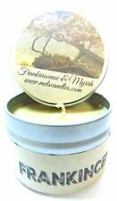 Frankincense and Myrrh 4oz All Natural Soy Candle Tin Approximate Burn Time 36 H