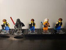 lego 20th anniversary star wars Han Solo 3x, Luke Skywalker, and Darth Vader