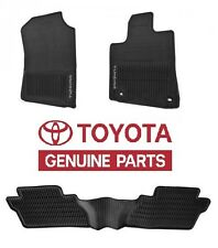 Genuine Toyota Tundra 2016 Double Cab Factory All Weather Rubber Floor Mats OE