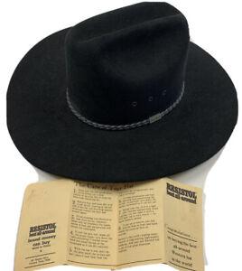 George Straight Resistol Black Cowboy Hat 4X Beaver 6 7/8 long Oval