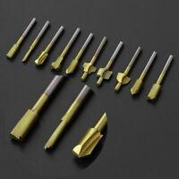 Titanium Mini Hss Router Bits Trimmer Shank For Dremel Rotary Tools 10Pcs/Set 3m