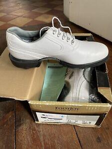FOOTJOY Dryjoys White Leather Golf Shoes UK9.5 Eur 44 BNWT