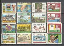 S8913 - TANZANIA 1983 - LOTTO 16 TEMATICI DIFFERENTI - VEDI FOTO