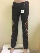 Moschino Cheap and Chic women's embroidered brown jeans IT42 ORP 354eur.