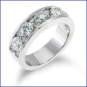 "Designer ""Gregorio"" Big Wide *14 gram* 2.15 Carat Diamond Band G VS Platinum 950"